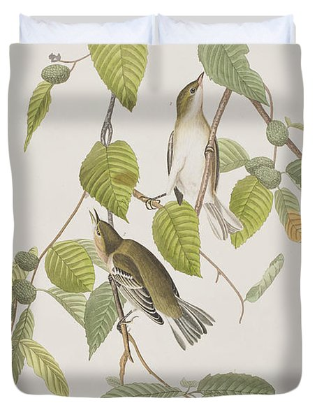 Autumnal Warbler Duvet Cover by John James Audubon