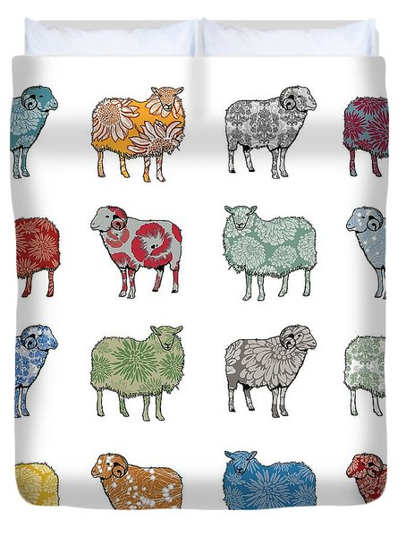 Baa Humbug Duvet Cover by Sarah Hough