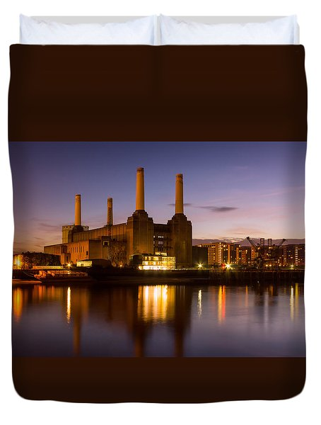 Battersea Power Station Duvet Cover by Ian Hufton