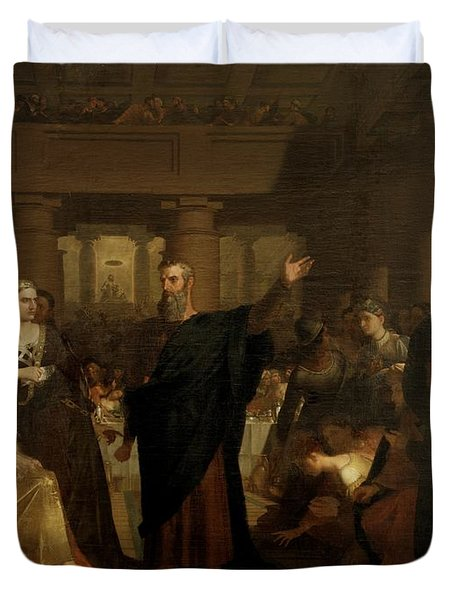 Belshazzar's Feast Duvet Cover by Washington Allston