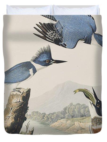Belted Kingfisher Duvet Cover by John James Audubon
