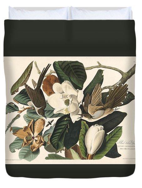 Black-billed Cuckoo Duvet Cover by John James Audubon