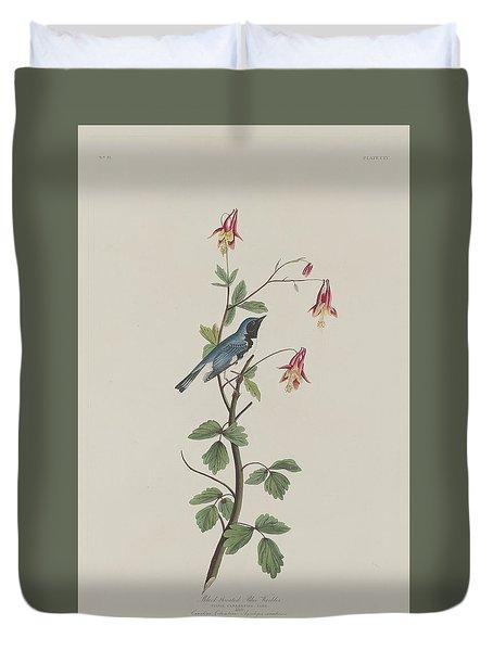 Black-throated Blue Warbler Duvet Cover by John James Audubon