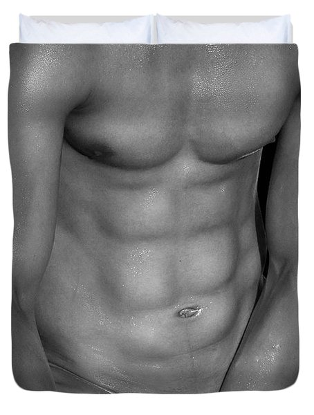 Body Art Duvet Cover by Mark Ashkenazi