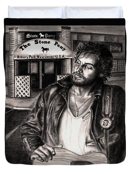 Bruce Springsteen Duvet Cover by Kathleen Kelly Thompson