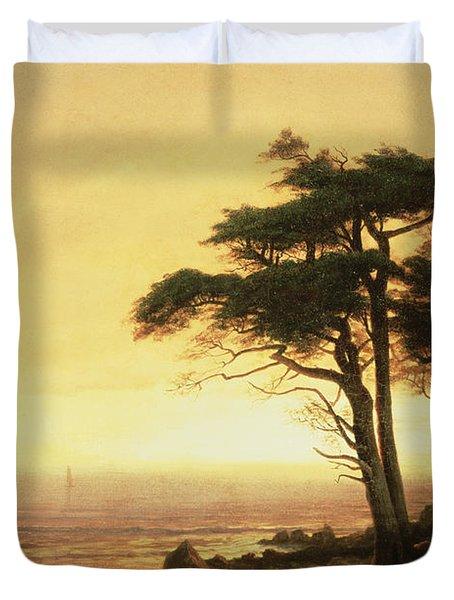 California Coast Duvet Cover by Albert Bierstadt