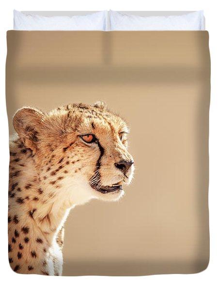 Cheetah Portrait Duvet Cover by Johan Swanepoel