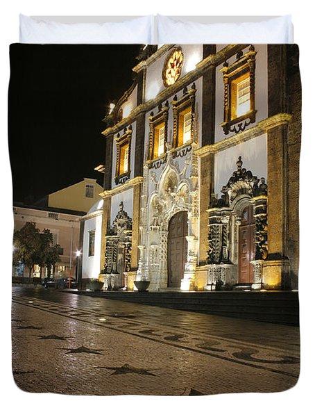 Church In Ponta Delgada Duvet Cover by Gaspar Avila