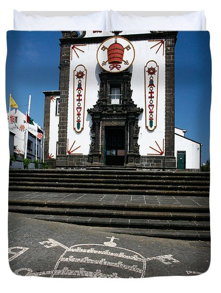 Church In The Azores Duvet Cover by Gaspar Avila