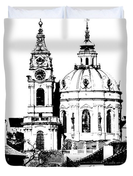 Church Of St Nikolas Duvet Cover by Michal Boubin