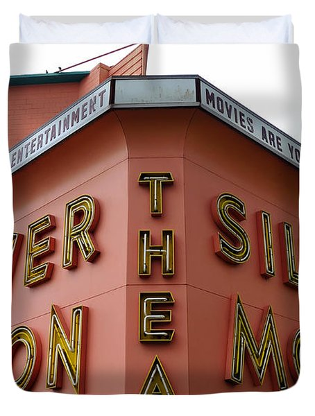Classic Drive In Duvet Cover by David Lee Thompson