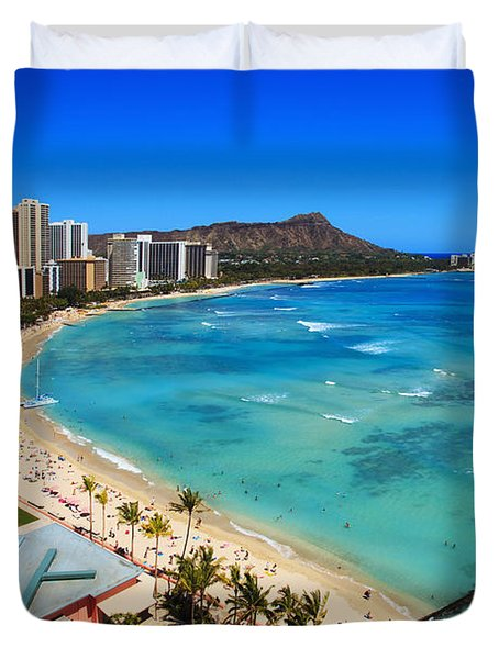 Classic Waikiki Duvet Cover by Tomas del Amo - Printscapes