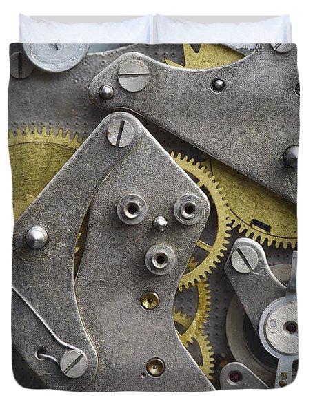 Clockwork Mechanism Duvet Cover by Michal Boubin
