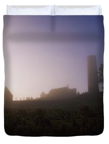 Clonmacnoise Monastery, County Offaly Duvet Cover by The Irish Image Collection