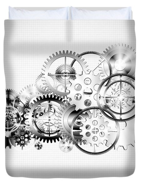 cloud made by gears wheels  Duvet Cover by Setsiri Silapasuwanchai
