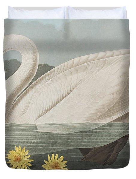 Common American Swan Duvet Cover by John James Audubon