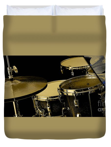 Drums Collection Duvet Cover by Marvin Blaine