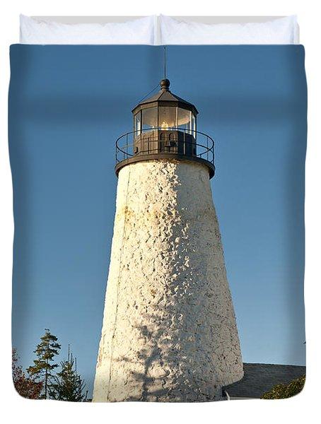 Dyce Head Lighthouse Duvet Cover by John Greim