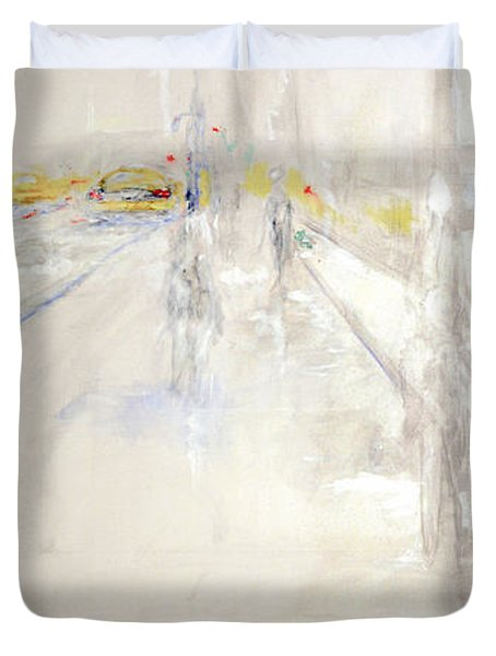 Early Winter In Manhattan Duvet Cover by Jack Diamond