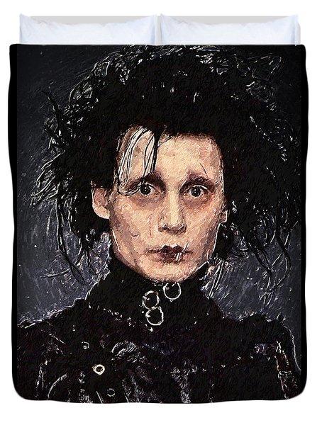 Edward Scissorhands Duvet Cover by Taylan Apukovska