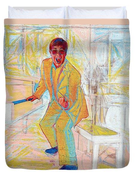 Elton John Duvet Cover by Martin Cohen