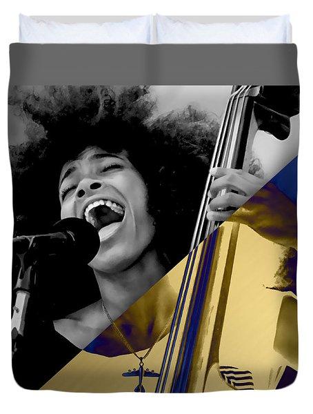 Esperanza Spalding Collection Duvet Cover by Marvin Blaine