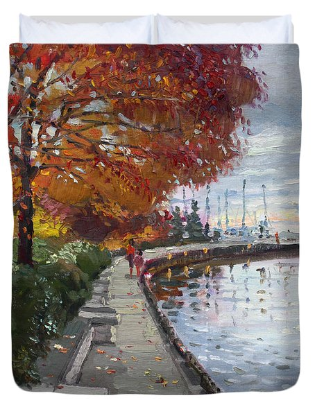 Fall in Port Credit ON Duvet Cover by Ylli Haruni