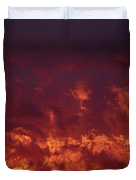 Fiery Clouds Duvet Cover by Michal Boubin