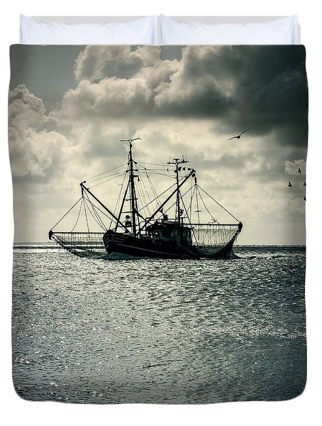 Fishing Boat Duvet Cover by Joana Kruse