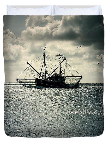 fishing boat Duvet Cover by Joana Kruse