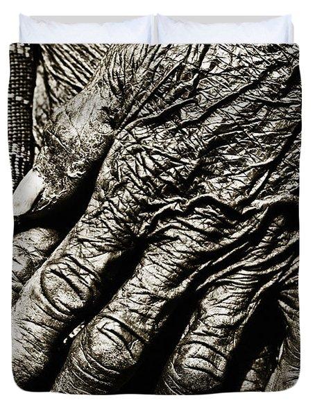 Folded Hands Duvet Cover by Skip Nall