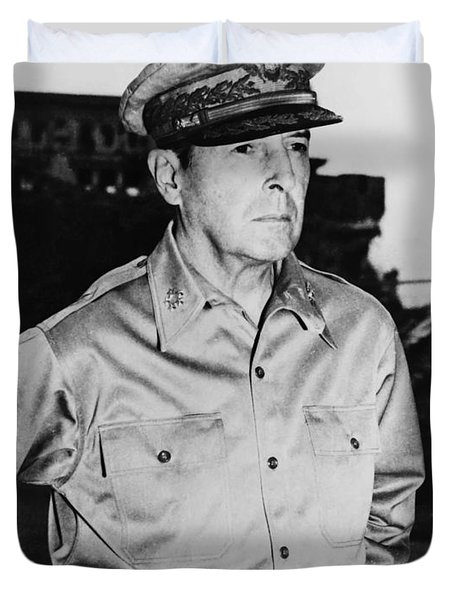 General MacArthur Duvet Cover by War Is Hell Store