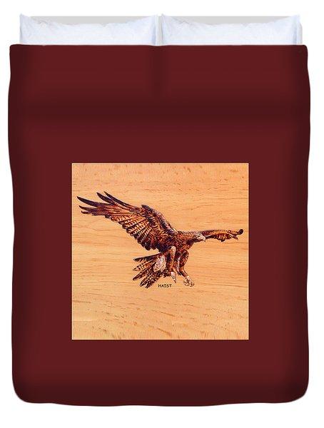 Golden Eagle Duvet Cover by Ron Haist