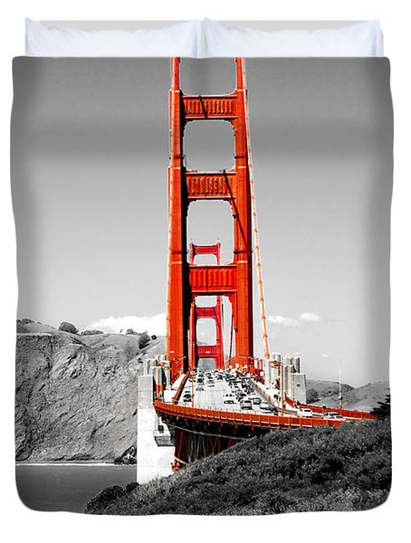 Golden Gate Duvet Cover by Greg Fortier