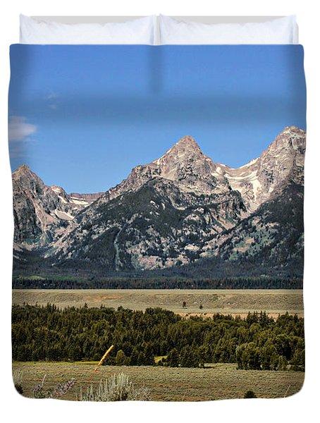 Grand Teton Wy Duvet Cover by Christine Till