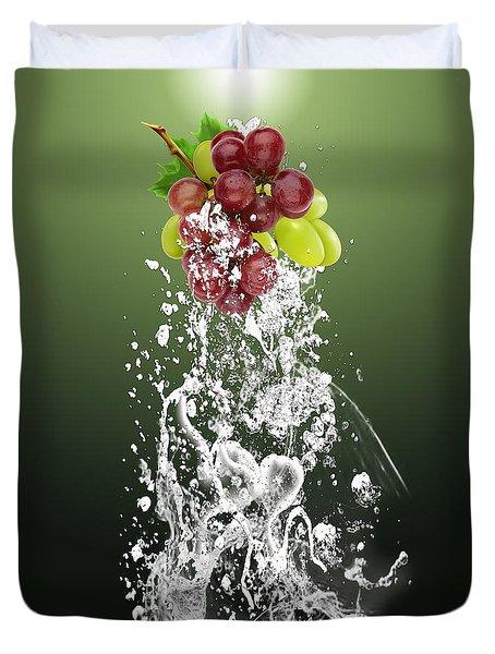 Grape Splash Duvet Cover by Marvin Blaine