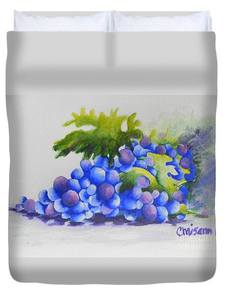 Grapes Duvet Cover by Chrisann Ellis