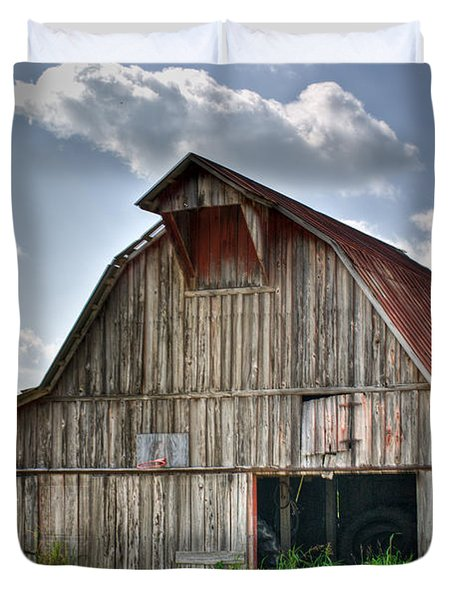 Grey Barn Duvet Cover by Douglas Barnett