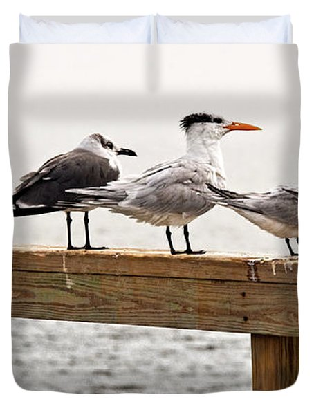 Grounded By Fog Duvet Cover by Christopher Holmes