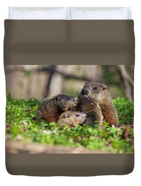 Happy Family Duvet Cover by Mircea Costina Photography