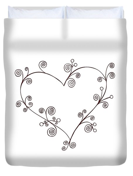 Heart Duvet Cover by Frank Tschakert