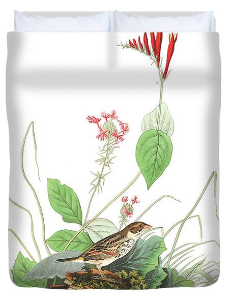 Henslow's Bunting  Duvet Cover by John James Audubon