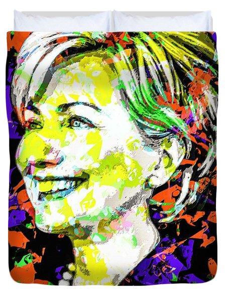 Hillary Clinton Duvet Cover by Svelby Art