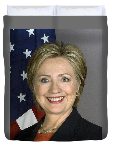 Hillary Clinton Duvet Cover by War Is Hell Store