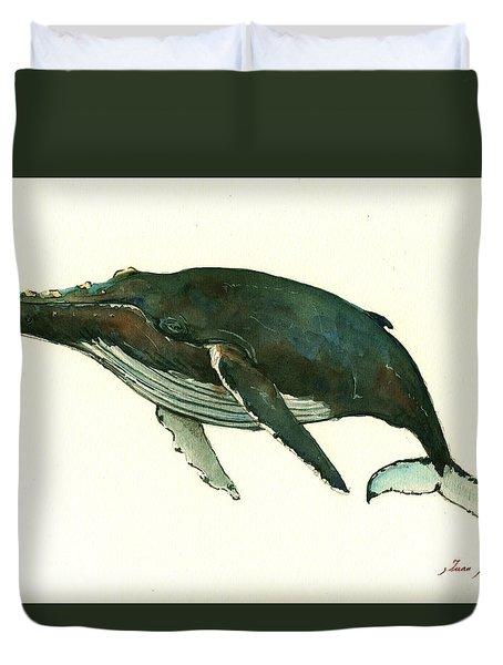 Humpback Whale  Duvet Cover by Juan  Bosco