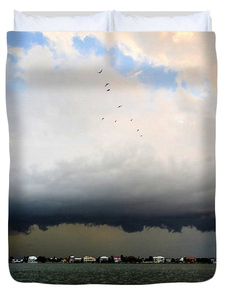 Into The Storm Duvet Cover by David Lee Thompson