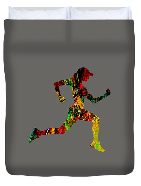 iRun Fitness Collection Duvet Cover by Marvin Blaine