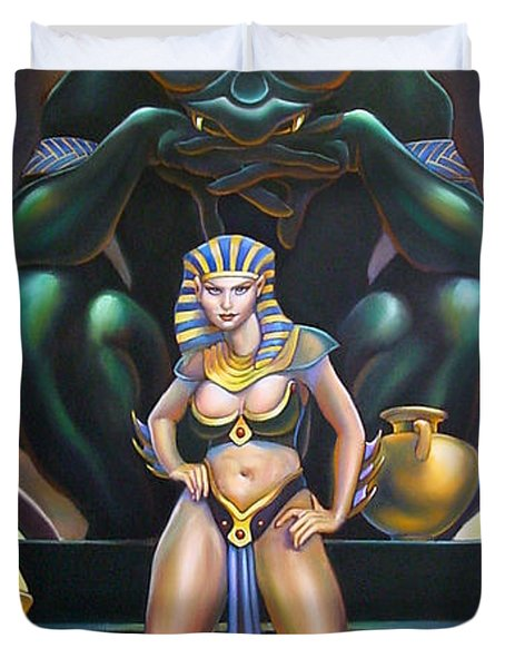 Isis And Osiris Duvet Cover by Patrick Anthony Pierson