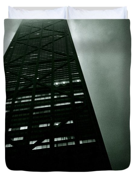 John Hancock Building - Chicago Illinois Duvet Cover by Michelle Calkins