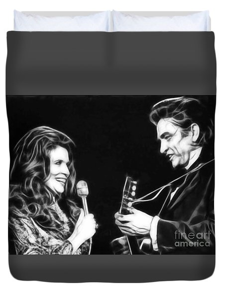 June Carter And Johnny Cash Collection Duvet Cover by Marvin Blaine